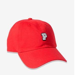 Pink Victoria's secret baseball hat color red.